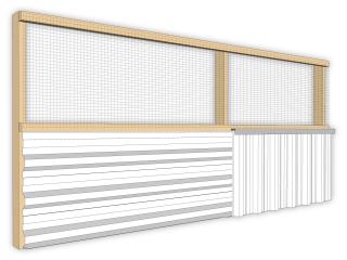 Clôture de chantier fixe: Mixte